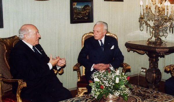 Grand Master greets the President of the Republic of Malta, Prof. Guido de Marco