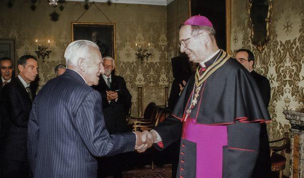 The Grand Master receives Msgr. Giovanni Lajolo
