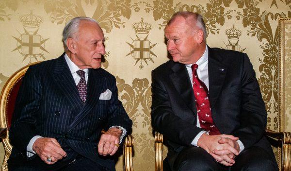 The Grand Master receives German Ambassador Westdickenberg