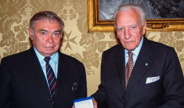 Grand Master receives Grand Cross Hungarian Freedom Fighters