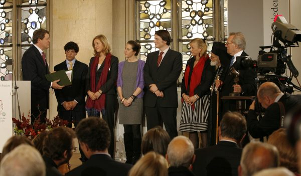 Young Order volunteers awarded prestigious westphalian peace prize their work handicapped