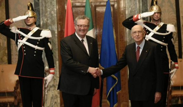 Grand Master official visit President Italian Republic Visita ufficiale Gran Maestro Presidente Repubblica Italiana