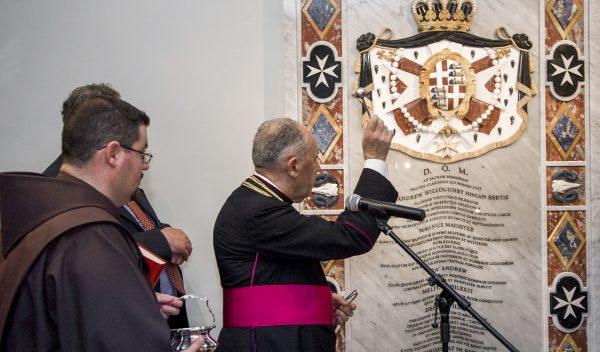 Grand Master inaugurates monument Fra Andrew Bertie Malta