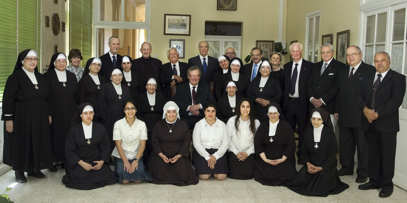 The Grand Master with the Order's nuns in the monastery of St Ursula, Malta