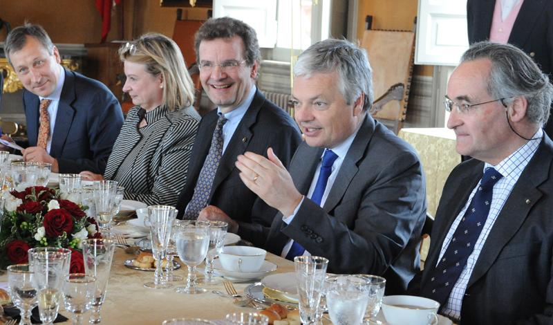 Visite du vice premier ministre de belgique la villa for Commerce exterieur belgique