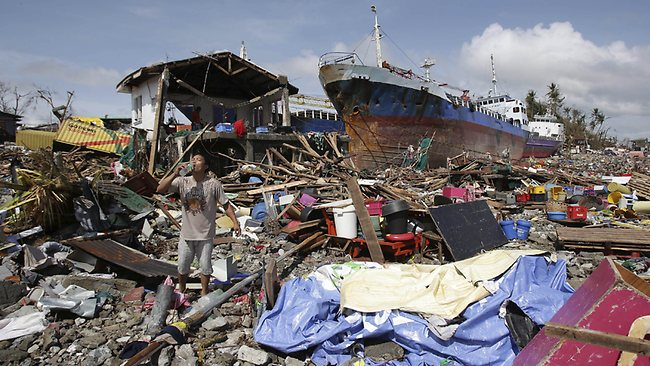 tiphon Haiyan aux Philippines