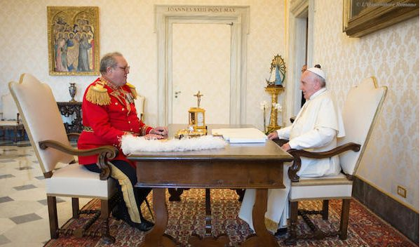 Pope Francis received in audience the Grand Master of the Sovereign Order of Malta, Fra' Matthew Festing