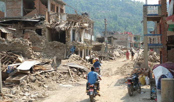 Nepal, the Order of Malta Worldwide Relief Agency providing food for 10,000 people