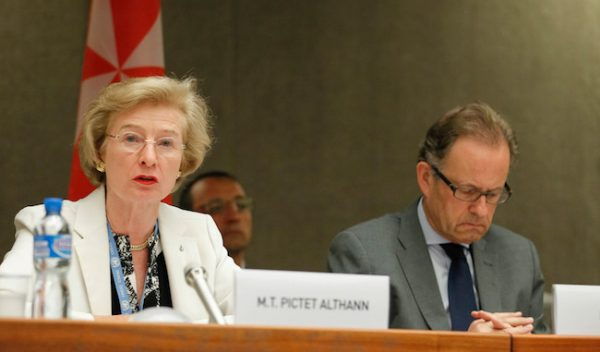 H.E. Ambassador Marie-Thérèse Pictet-Althann. Permanent Observer of the Sovereign Order of Malta Mission to the United Nations in Geneva.