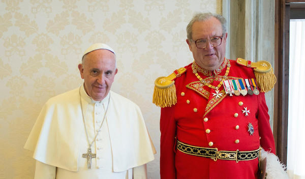 Francois Illas New Tradition: Grand Master Fra' Matthew Festing Audience With Pope
