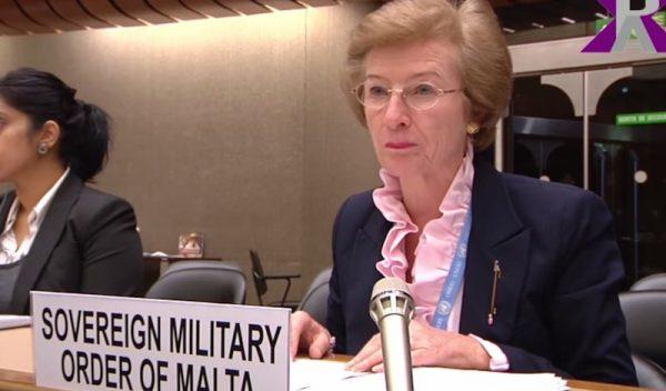 Order of Malta Permanent Observer to UN in Geneva, Ambassador Marie-Thérèse Pictet-Althann