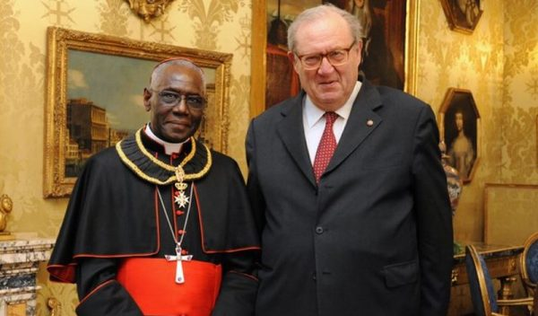 Cardenal Sarah with Order of Malta Grand Master