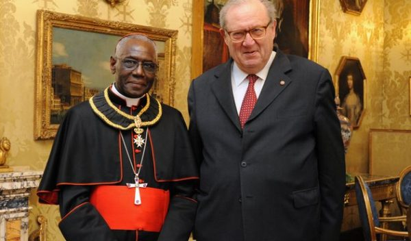 Order of Malta Grand Master with Cardenal Sarah