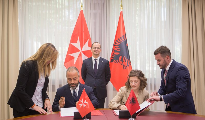 Order of Malta and Albania sign cooperation agreement