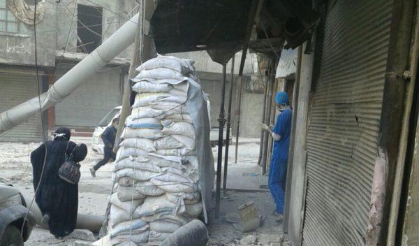 Kinderkrankenhaus hôpital pédiatrique pediatric hospital supported by Malteser International bombed hospital pediátrico apoyado por Malteser International bombardeado en Alepo Ospedale pediatrico ad Aleppo