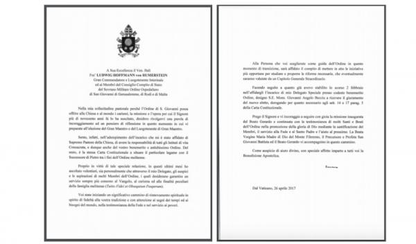 Carta del Papa Francisco al Consejo Pleno de Estado Letter from Pope Francis to Council Complete of State Lettre du Pape François au Conseil Complet d'État