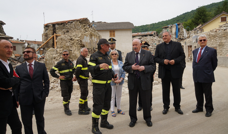 terremoto en el centro de Italia Erdbebengebiete in Mittelitalien séismes en Italie centrale earthquake areas in central Italy