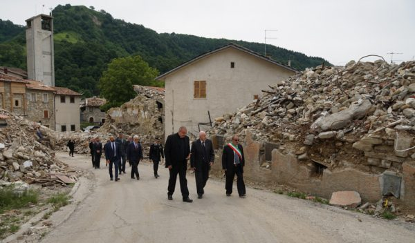earthquake areas in central Italy