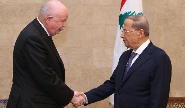 presidente de Líbano Presidente del Libano Libanesischer Präsident President ofLebanon président du Liban