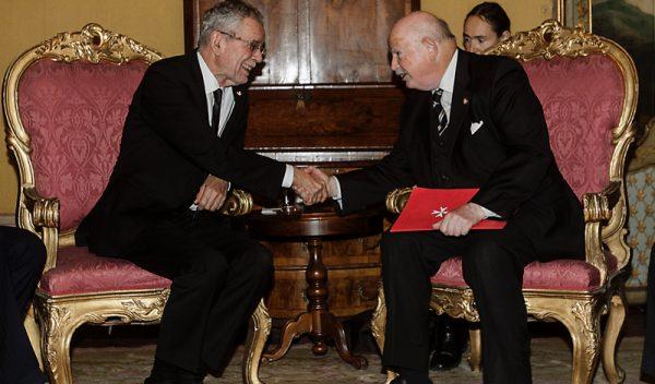 Président de la République d'Autriche presidente de Austria Alexander Van der Bellen
