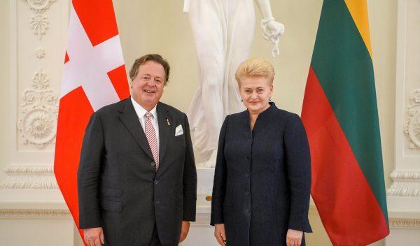 Malteserordens in Litauen presidenta de la República de Lituania Présidente de la République de Lituanie President of Lithuania Presidente della Lituania
