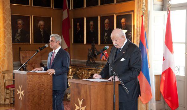 Armenischer Präsident Président de la République d'Arménie presidente de Armenia Presidente di Armenia President of Armenia Lieutenant of Grand Master