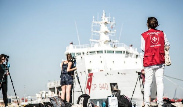 Flüchtlinge Aquarius equipo médico orden de malta ordre de malte dattilo Aquarius Migrants Order of Malta Migranti Aquarius ordine di malta