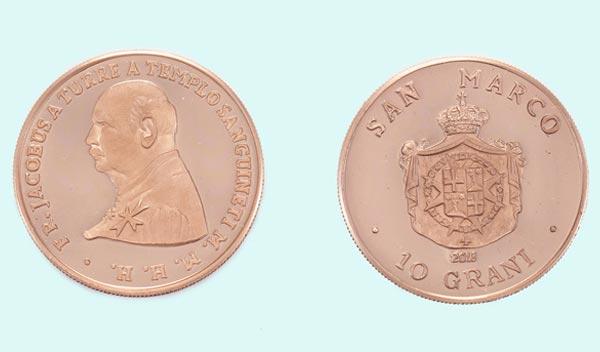 Moneta in bronzo da 10 grani