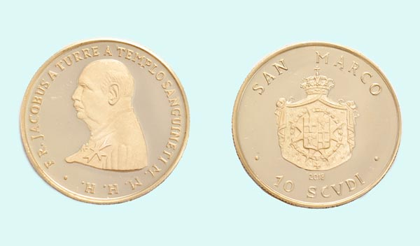 Moneta in oro da 10 Scudi