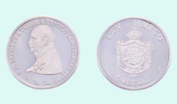 Moneta in argento da 1 Scudo