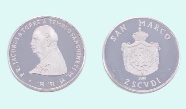 Moneta in argento da 2 Scudi