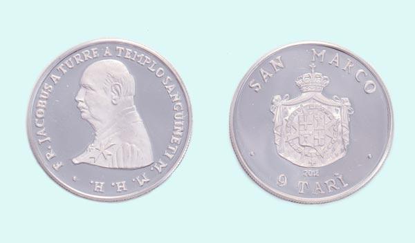 Moneta in argento da 9 Tarì