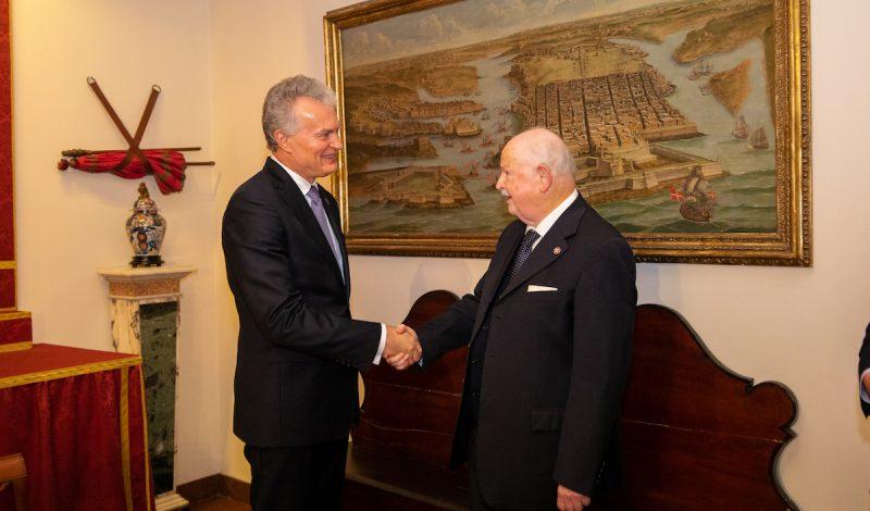 Presidente della Lituania Gitanas Nausèda Ordine di Malta