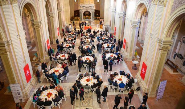 Pranzo di Natale nella Basilica dei Santi Bonifacio e Alessio