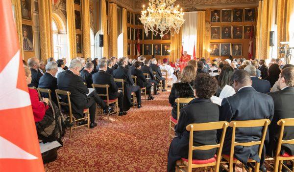 Discorso del Gran Maestro al Corpo Diplomatico