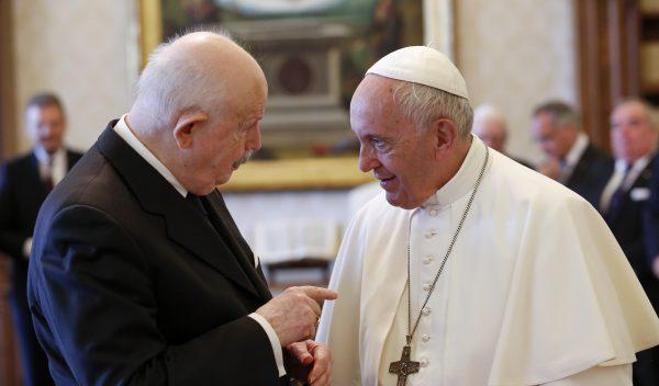 Papa Francesco e il Gran Maestro Fra' Giacomo Dalla Torre