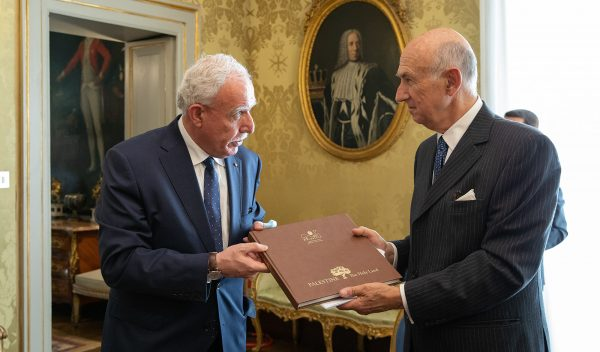 Palestinian Foreign Minister Order of Malta
